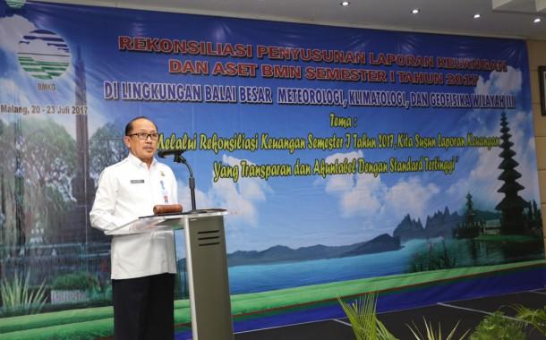 Siap Pertahankan Opini WTP, BBMKG Wilayah III Denpasar Gelar Rekonsiliasi Laporan Keuangan Semester I Tahun 2017